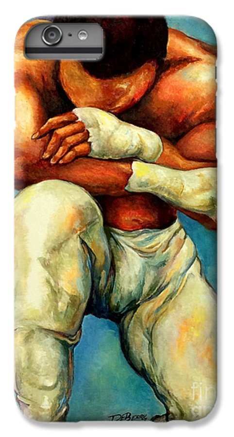 Lloyd Debery IPhone 6 Plus Case featuring the painting Michael Original by Lloyd DeBerry