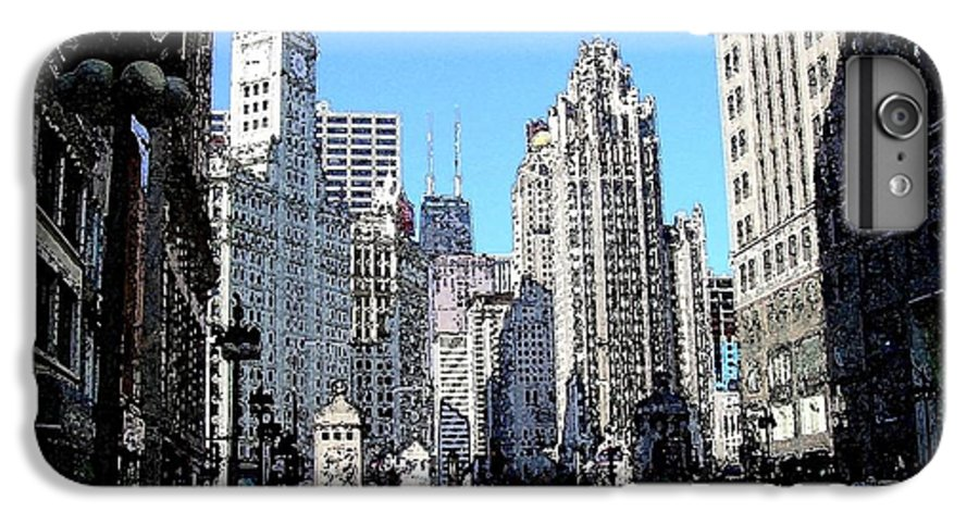 Chicago IPhone 6 Plus Case featuring the digital art Michigan Ave Wide by Anita Burgermeister