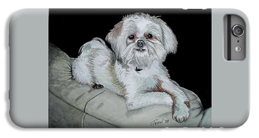 Dog IPhone 6 Plus Case featuring the painting Miki Dog by Ferrel Cordle