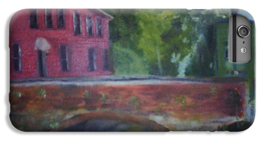 Mill Street IPhone 6 Plus Case featuring the painting Mill Street Plein Aire by Sheila Mashaw
