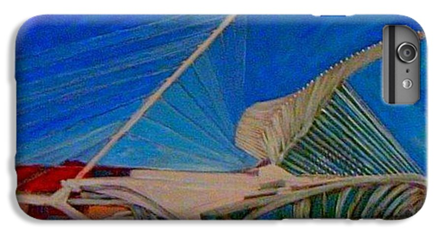 Mam IPhone 6 Plus Case featuring the mixed media Milwaukee Art Museum by Anita Burgermeister
