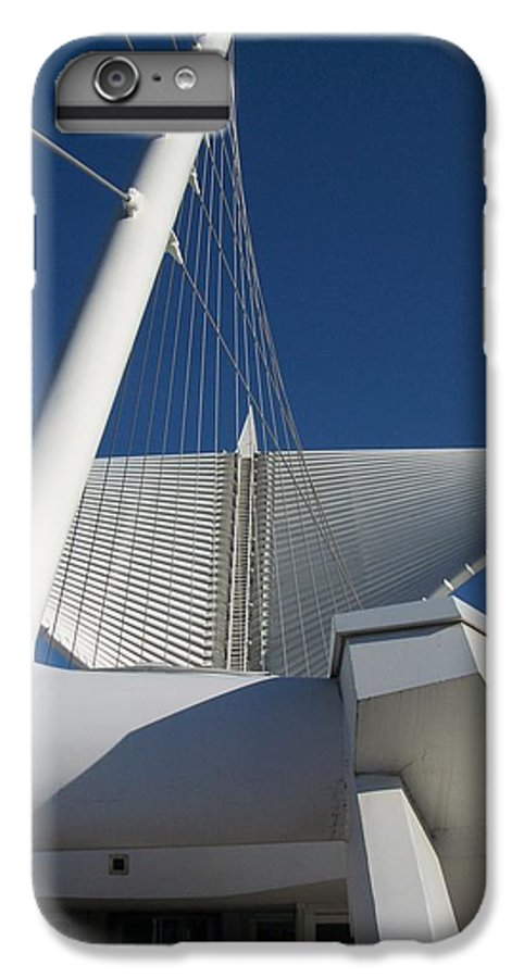 Mam IPhone 6 Plus Case featuring the photograph Milwaukee Art Museum Cropped by Anita Burgermeister
