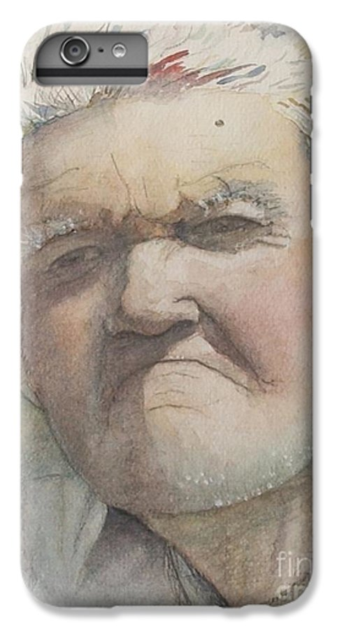Portrait IPhone 6 Plus Case featuring the painting Minnesota Farmer by Nadine Rippelmeyer