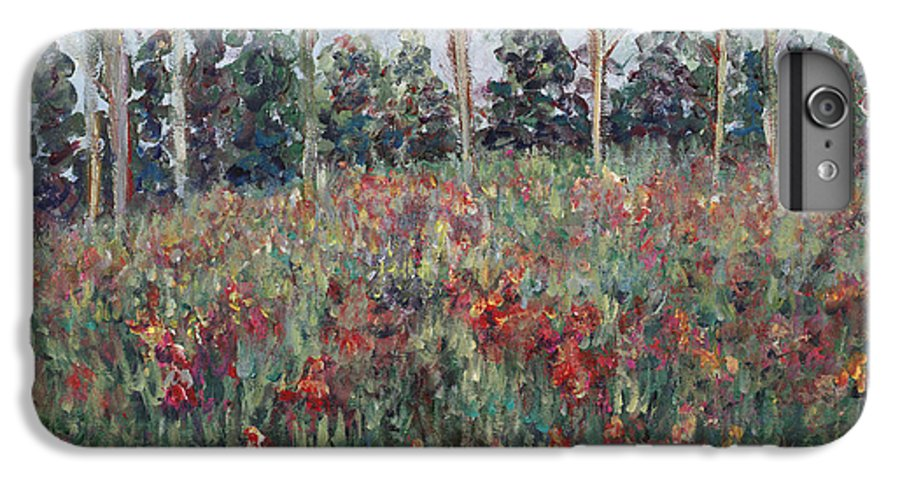 Landscape IPhone 6 Plus Case featuring the painting Minnesota Wildflowers by Nadine Rippelmeyer