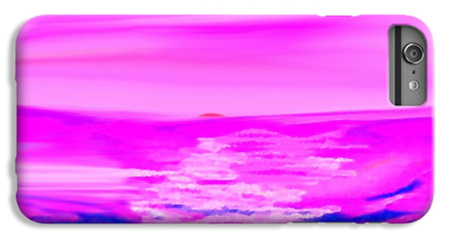 Sunset IPhone 6 Plus Case featuring the digital art Miracle Sunset-sun And Sky In One Dance by Dr Loifer Vladimir