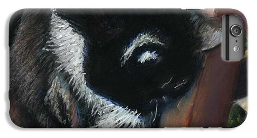 Cat IPhone 6 Plus Case featuring the painting Kitty Chair by Minaz Jantz