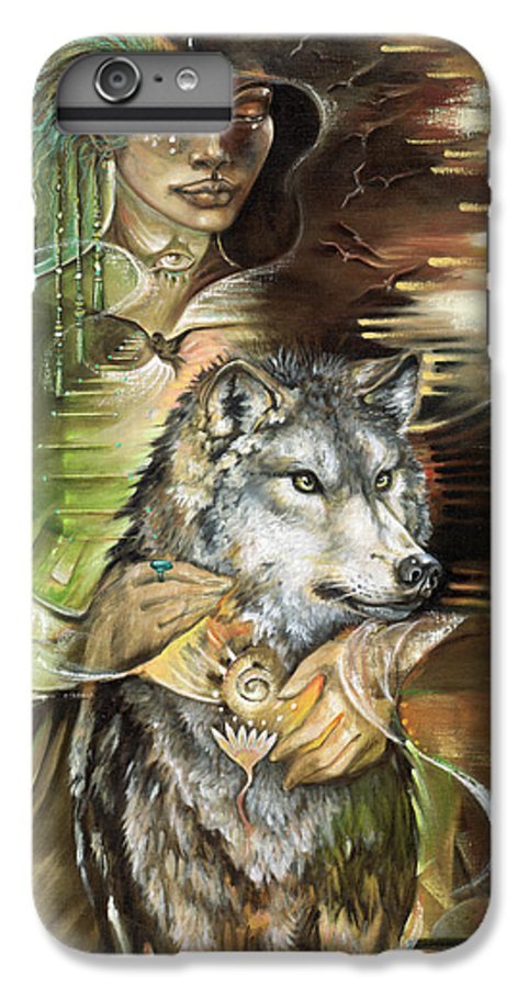 Animals IPhone 6 Plus Case featuring the painting Missing You Susan Boulet by Blaze Warrender