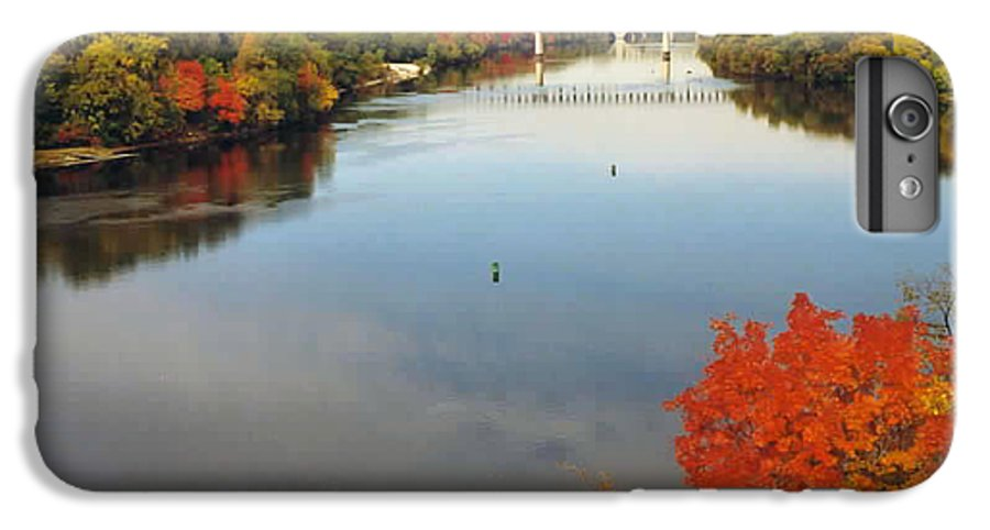 Mississippi IPhone 6 Plus Case featuring the photograph Mississippi River by Kathy Schumann