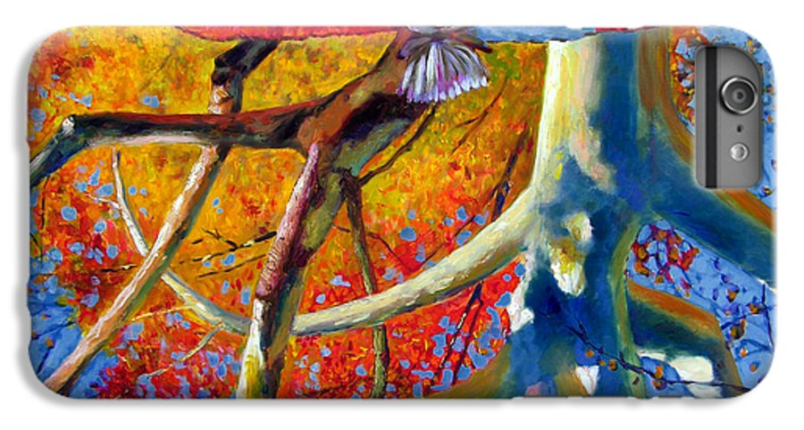 Garden Pond IPhone 6 Plus Case featuring the painting Missouri Sycamore Reflections by John Lautermilch