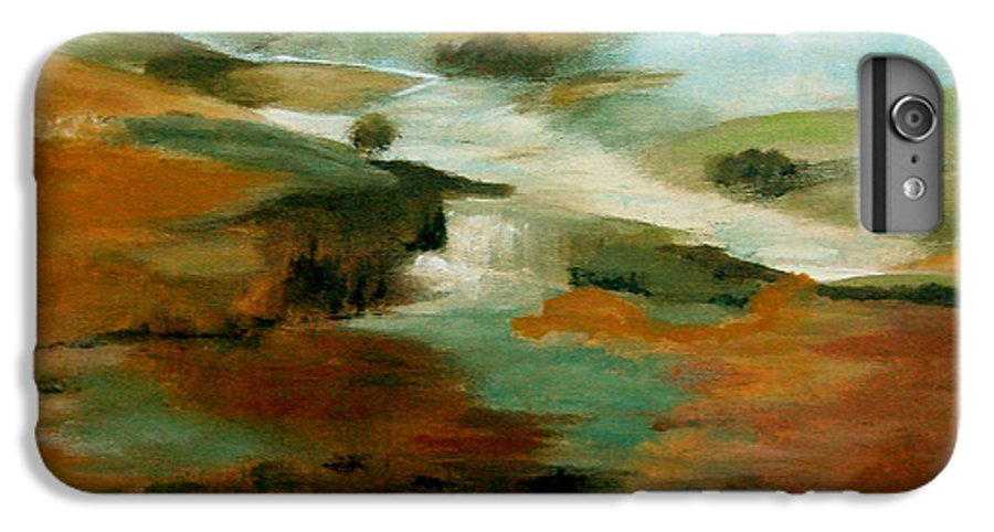 Abstract IPhone 6 Plus Case featuring the painting Misty Hills by Ruth Palmer