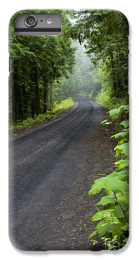 Road IPhone 6 Plus Case featuring the photograph Misty Mountain Road by Idaho Scenic Images Linda Lantzy