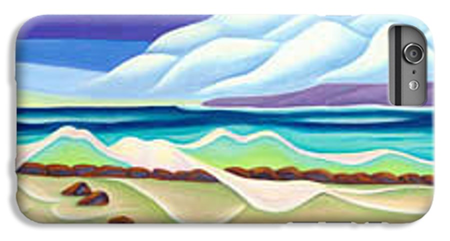Landscape IPhone 6 Plus Case featuring the painting Moana Kai Surf by Lynn Soehner