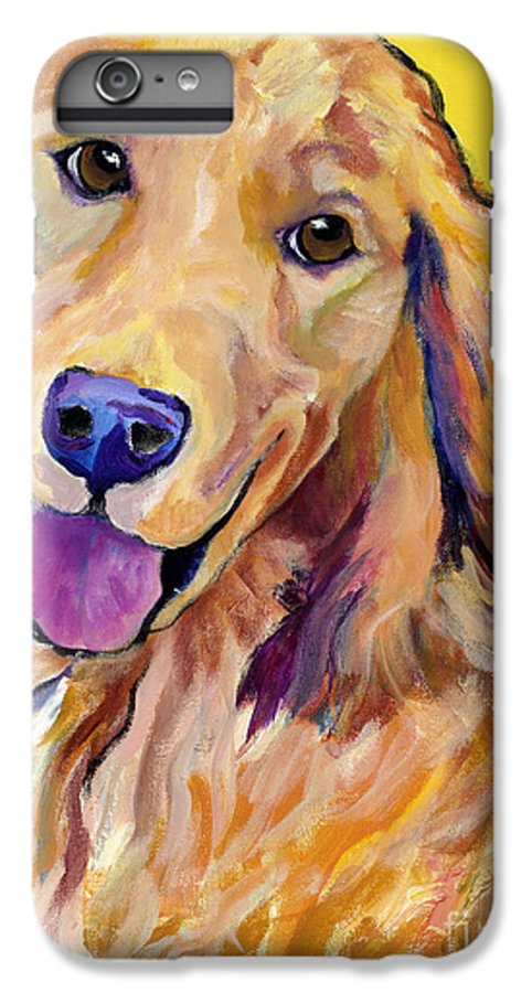 Acrylic Paintings IPhone 6 Plus Case featuring the painting Molly by Pat Saunders-White