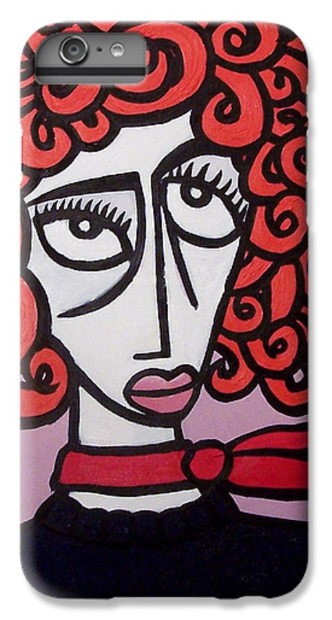 Portaits IPhone 6 Plus Case featuring the painting Molly by Thomas Valentine