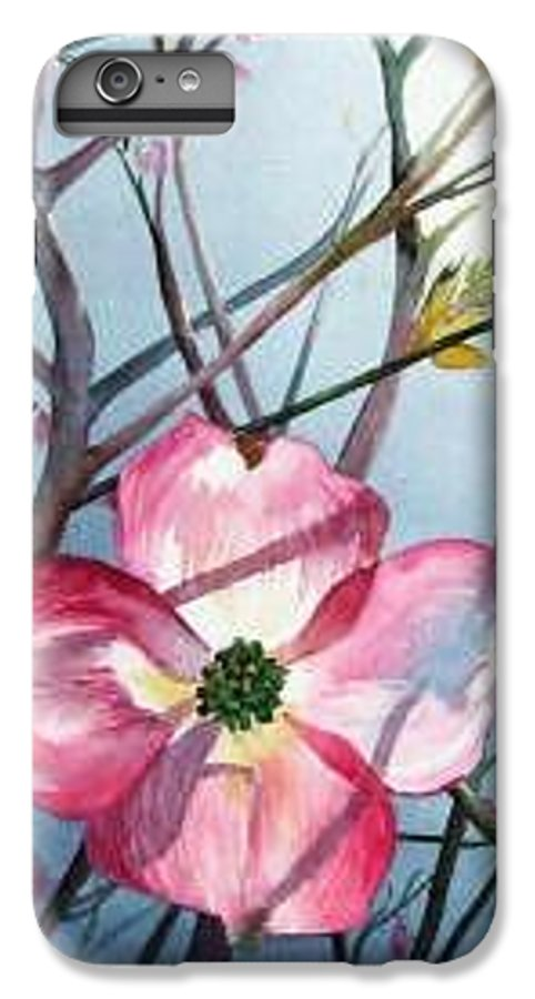 Dogwood IPhone 6 Plus Case featuring the painting Mom's Dogwood by Linda Marie Carroll