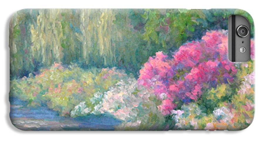Pond IPhone 6 Plus Case featuring the painting Monet's Pond by Bunny Oliver