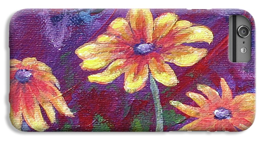 Small Acrylic Painting IPhone 6 Plus Case featuring the painting Monet's Small Composition by Jennifer McDuffie