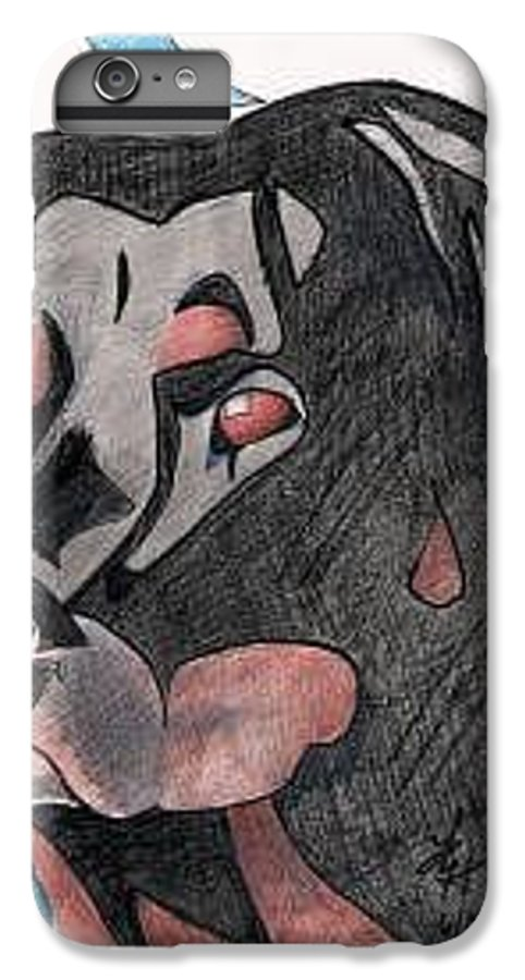 Mongo IPhone 6 Plus Case featuring the drawing Mongo by Loretta Nash