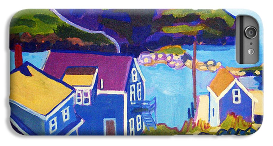 Seascape IPhone 6 Plus Case featuring the painting Monhegan Harbor by Debra Bretton Robinson