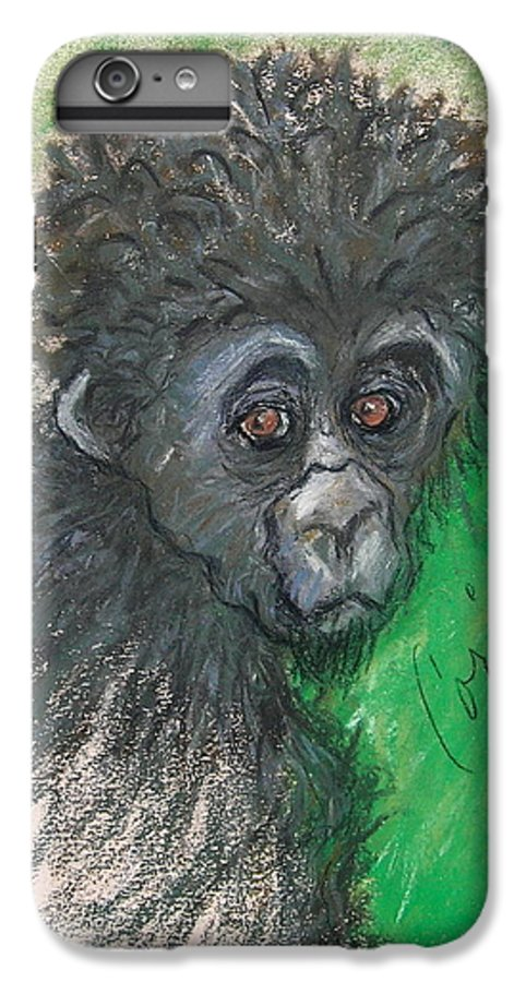 Monkey IPhone 6 Plus Case featuring the drawing Monkey Business by Cori Solomon