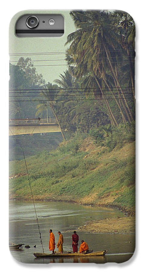 Monks IPhone 6 Plus Case featuring the photograph Monks - Battambang by Patrick Klauss