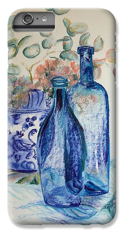 Still Life IPhone 6 Plus Case featuring the drawing Monnaie Bleue by Muriel Dolemieux