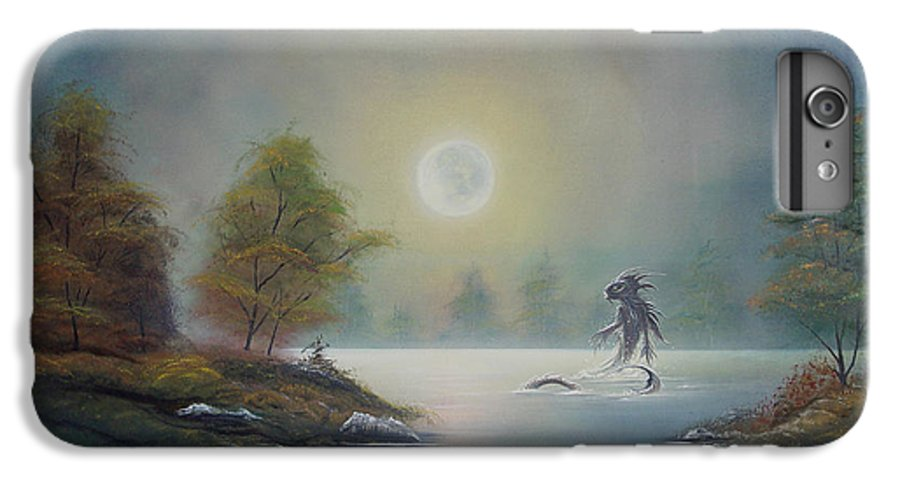 Landscape IPhone 6 Plus Case featuring the painting Monstruo Ness by Angel Ortiz