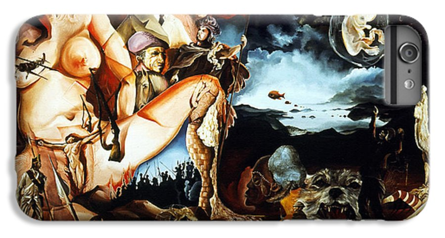 War IPhone 6 Plus Case featuring the painting Monument To The Unborn War Hero by Otto Rapp