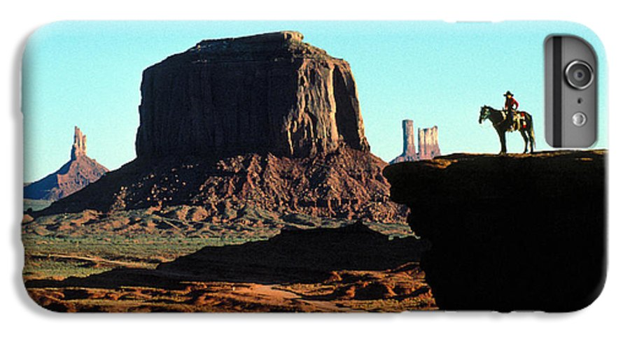 Man IPhone 6 Plus Case featuring the photograph Monument Valley by Carl Purcell
