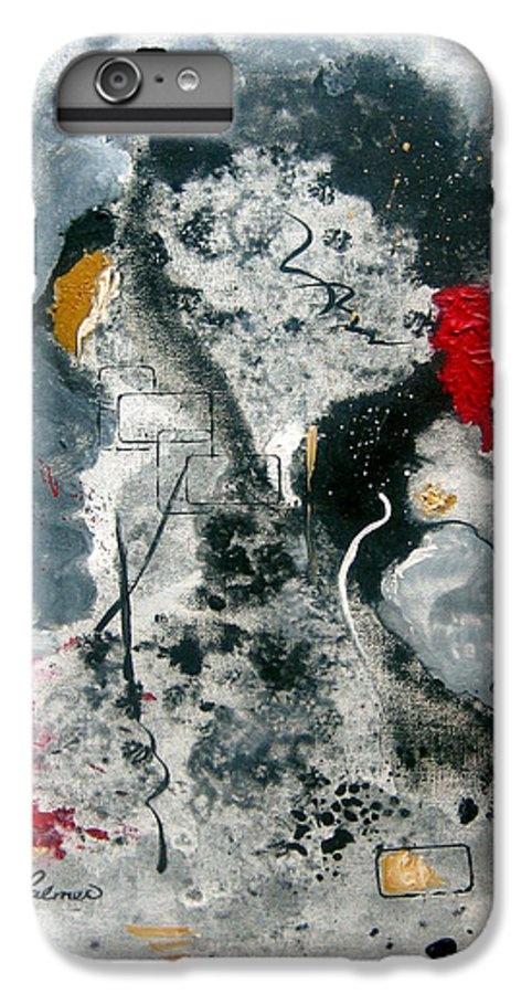 Abstract IPhone 6 Plus Case featuring the painting Moods by Ruth Palmer