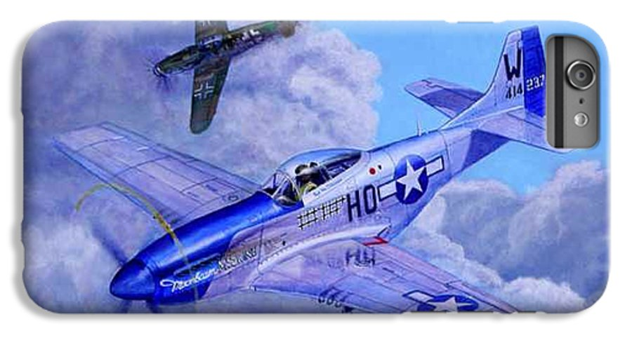 Capt Bill Wisner Shoots Down Two Bf-109s On November 2nd 1944 IPhone 6 Plus Case featuring the painting Moonbeam Mcswine by Scott Robertson