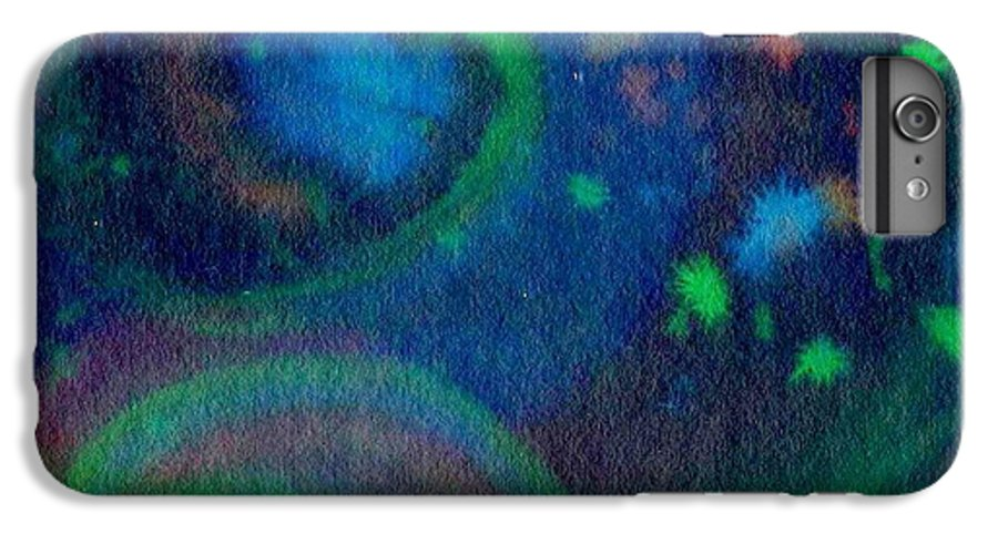 Dark Watercolor IPhone 6 Plus Case featuring the painting Moonbow by Chandelle Hazen