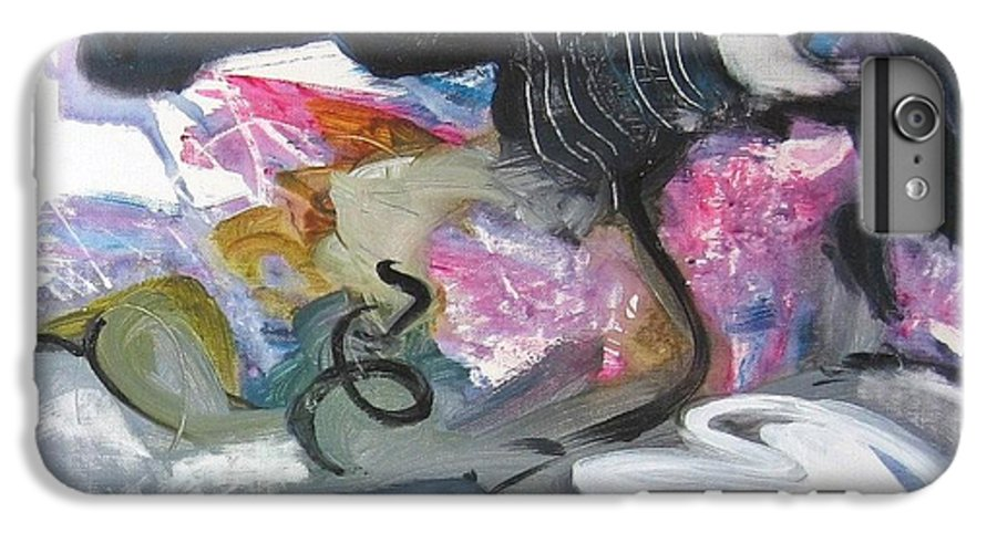 Abstract Paintings IPhone 6 Plus Case featuring the painting Moonlight Fever by Seon-Jeong Kim