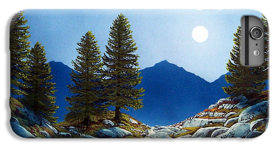 Landscape IPhone 6 Plus Case featuring the painting Moonlit Trail by Frank Wilson