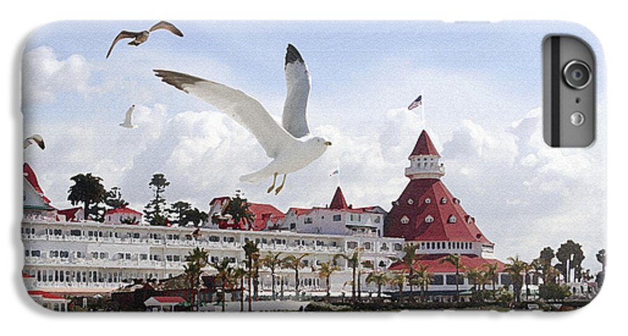 Beach IPhone 6 Plus Case featuring the photograph Morning Gulls On Coronado by Margie Wildblood