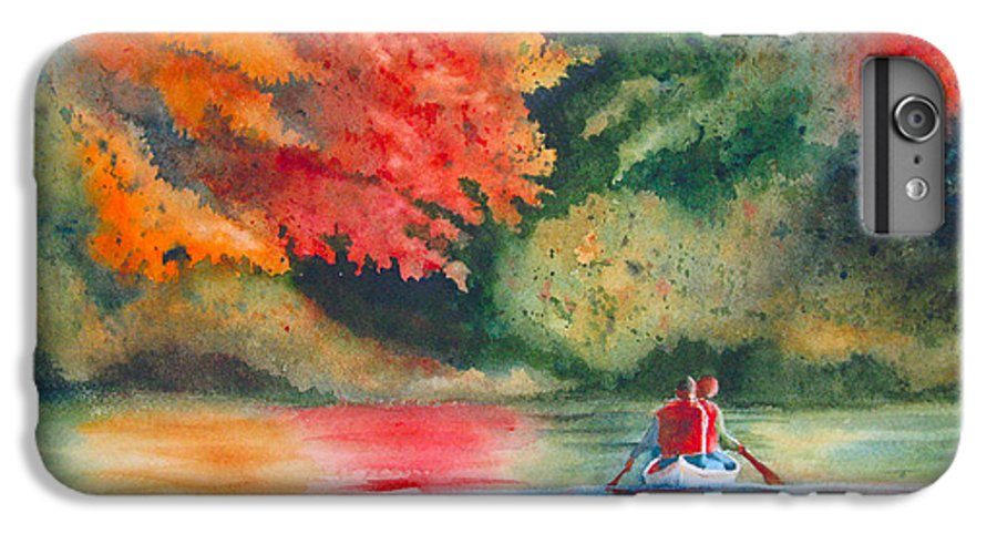 Lake IPhone 6 Plus Case featuring the painting Morning On The Lake by Karen Stark