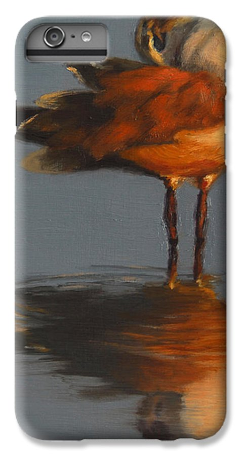 Bird IPhone 6 Plus Case featuring the painting Morning Reflection by Greg Neal