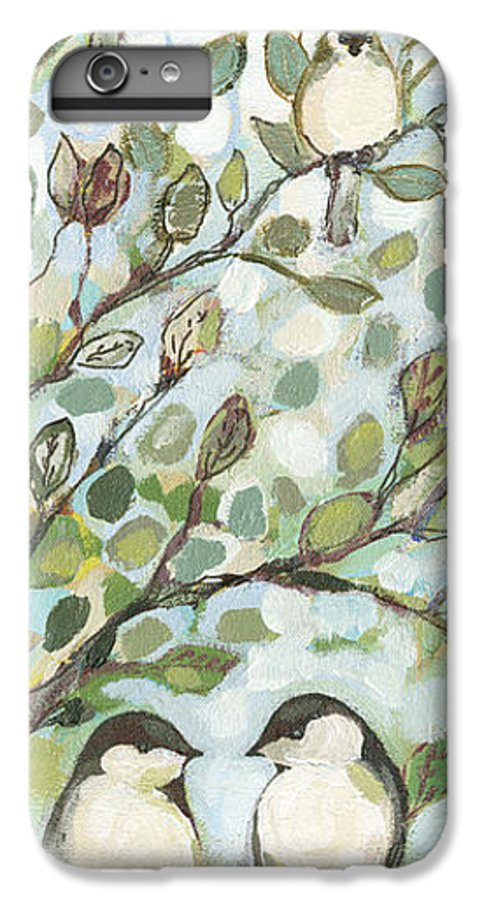 Chickadee IPhone 6 Plus Case featuring the painting Mo's Chickadees by Jennifer Lommers