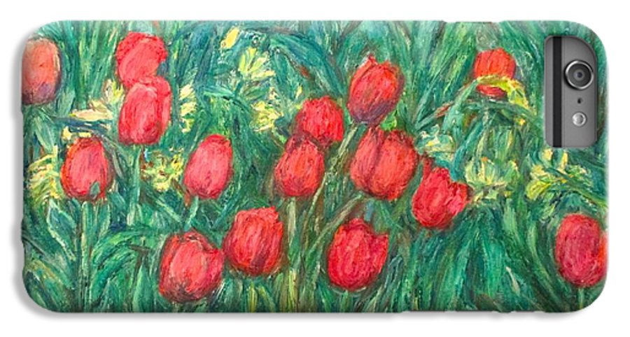 Kendall Kessler IPhone 6 Plus Case featuring the painting Mostly Tulips by Kendall Kessler