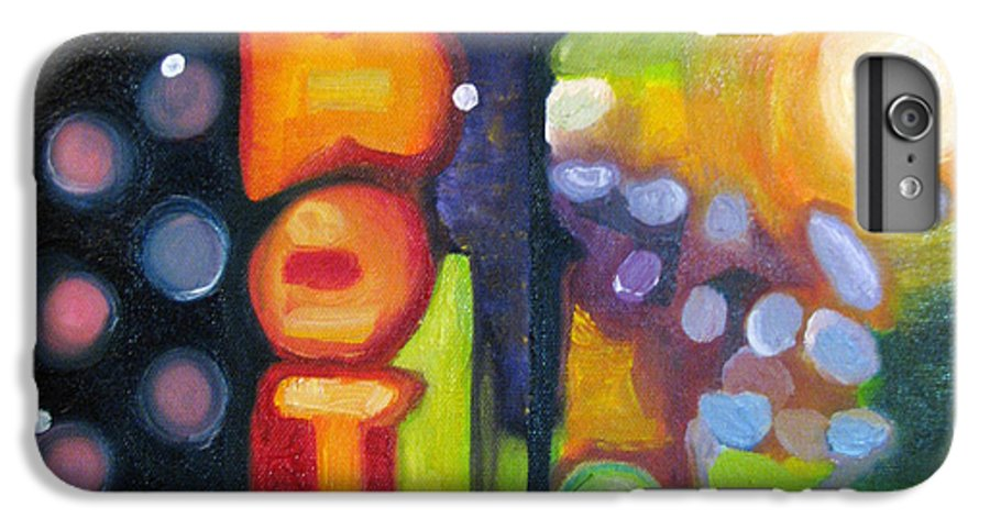 N IPhone 6 Plus Case featuring the painting Motel Lights by Patricia Arroyo
