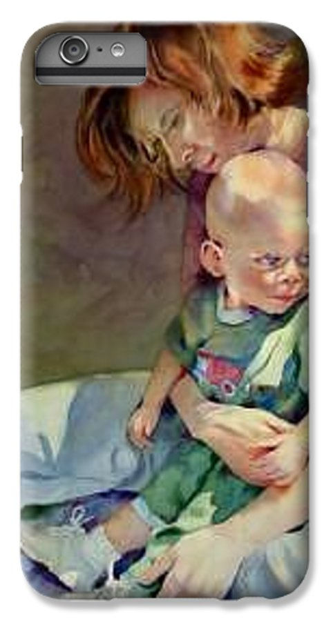 Mother And Child IPhone 6 Plus Case featuring the painting Mother Love by Marlene Gremillion