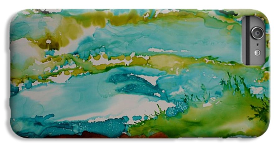 Wave IPhone 6 Plus Case featuring the mixed media Mother Ocean by Susan Kubes