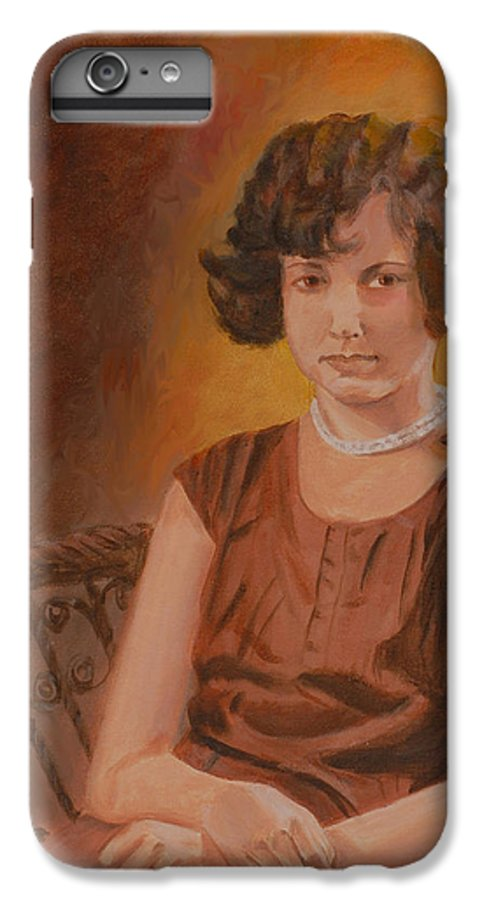 Woman IPhone 6 Plus Case featuring the painting Mother by Quwatha Valentine