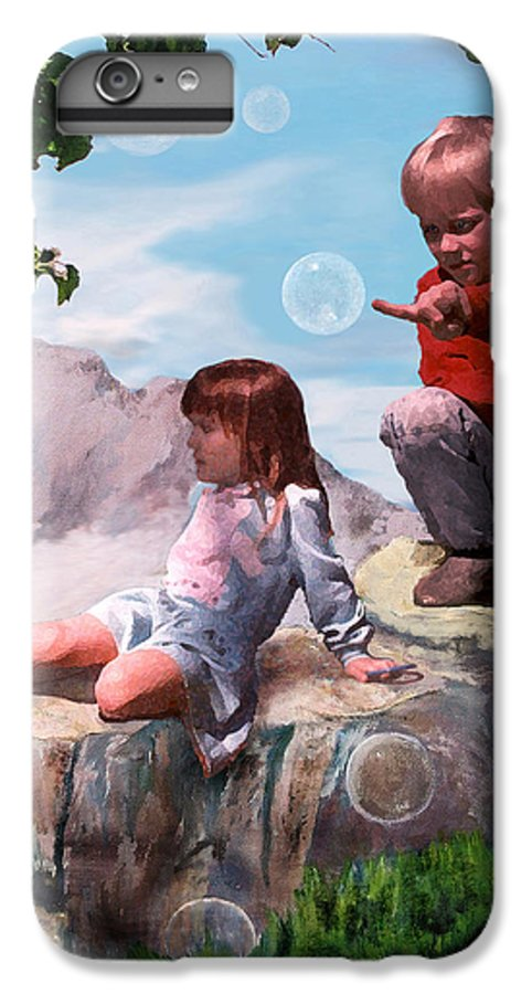Landscape IPhone 6 Plus Case featuring the painting Mount Innocence by Steve Karol