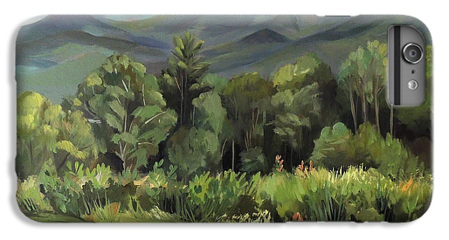 White Mountain Paintngs IPhone 6 Plus Case featuring the painting Mount Lafayette From Sugar Hill New Hampshire by Nancy Griswold