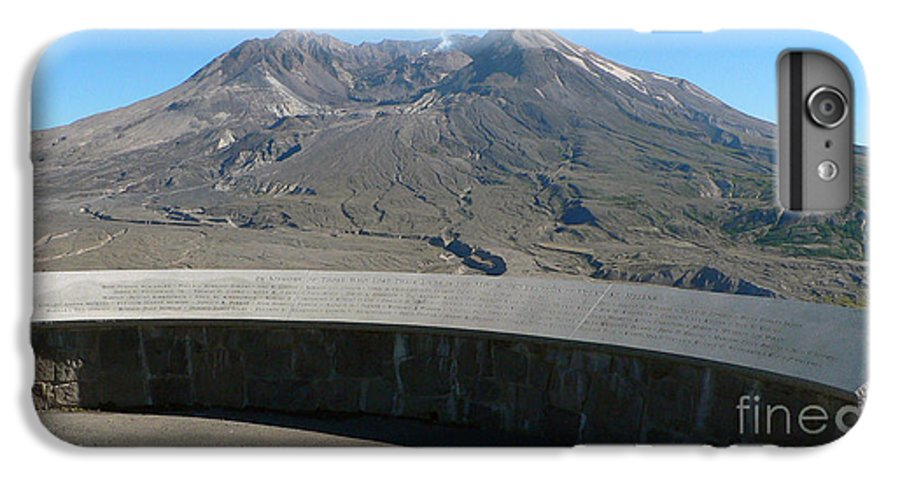 Volcano IPhone 6 Plus Case featuring the photograph Mount St. Helen Memorial by Larry Keahey