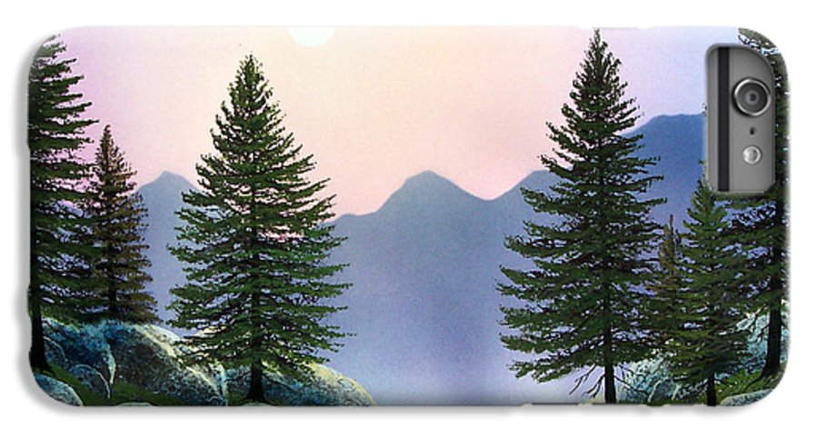 Landscape IPhone 6 Plus Case featuring the painting Mountain Firs by Frank Wilson