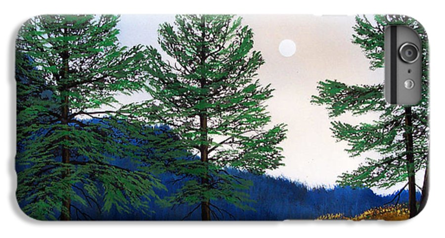 IPhone 6 Plus Case featuring the painting Mountain Pines by Frank Wilson