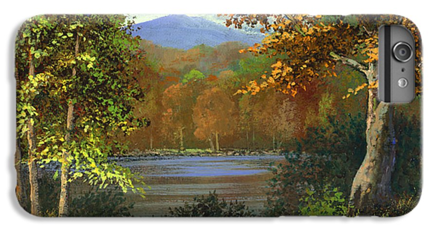 Landscape IPhone 6 Plus Case featuring the painting Mountain Pond by Frank Wilson