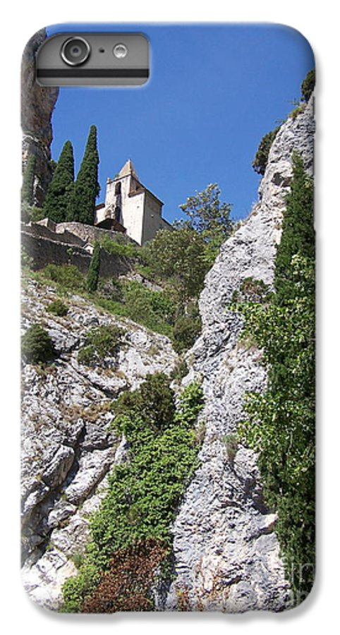 Church IPhone 6 Plus Case featuring the photograph Moustier St. Marie Church by Nadine Rippelmeyer